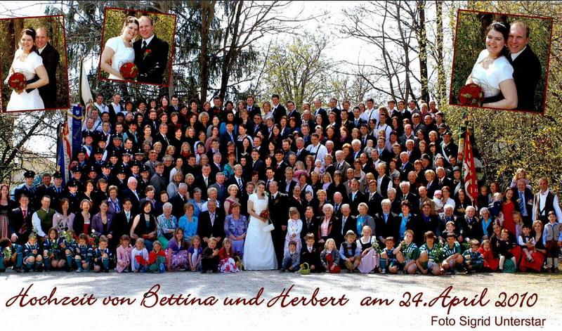Hochzeitsfoto Bettina und Herbert - 2010.04,24